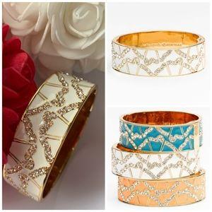 Kate Spade White/Gold Garden Grove Cuff Bracelet